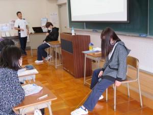 作業療法学科講義体験